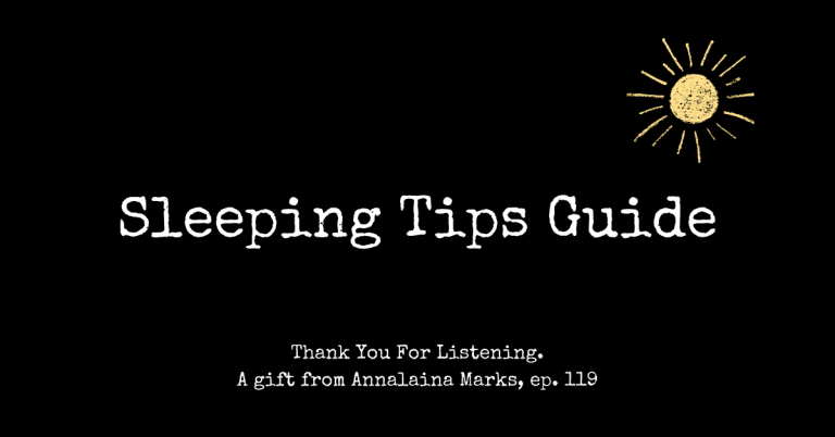 Get Your Entire House To Sleep with Annalaina Marks gift